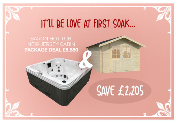 REGENCY 'BARON' HOT TUB + 'NEW JERSEY' CABIN PACKAGE