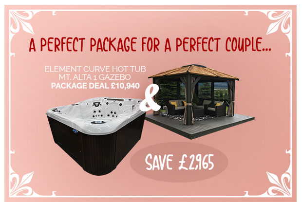 COAST SPAS 'ELEMENT CURVE 50' + 9 X 9 GAZEBO PACKAGE